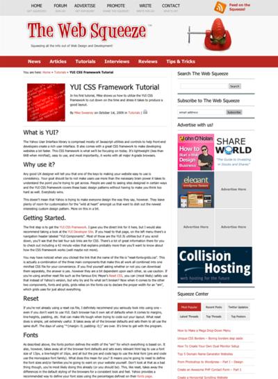 図2 YUI CSS Frameworkのチュートリアル