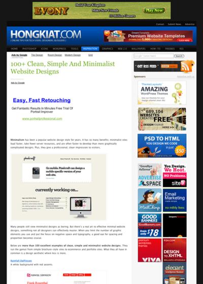 図3 100以上のクリーンでシンプルでミニマルなWebデザイン