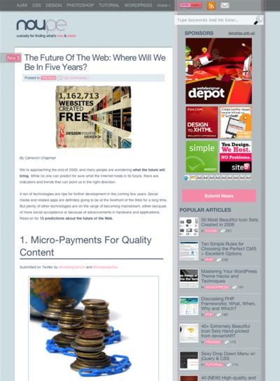 図5 5年後のWebはどうなっているかの予言