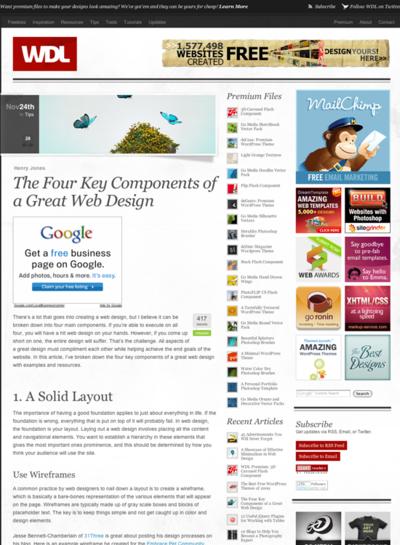 図1 Webデザインをすばらしいものにする4つの鍵