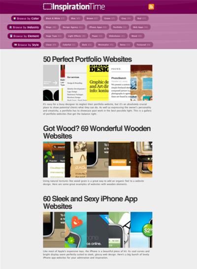 図5 キレイなWebデザインのショーケース