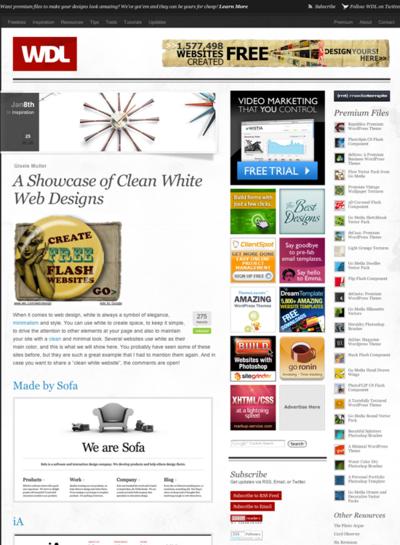 図4 白ベースでクリーンなWebデザインのショーケース
