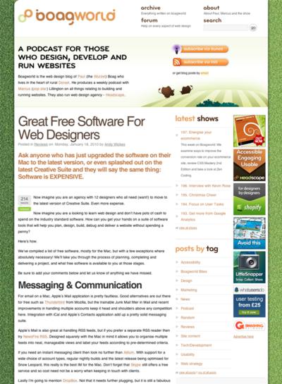 図3 Webデザイナー向けのフリーソフトをシーンにあわせて紹介