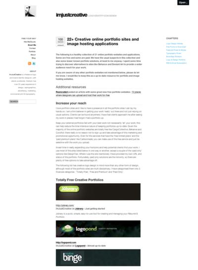 図6 オンラインポートフォリオサービスのリンク集