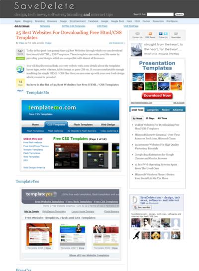 図4 フリーのHTML/CSSテンプレートをダウンロードできるサイト25選