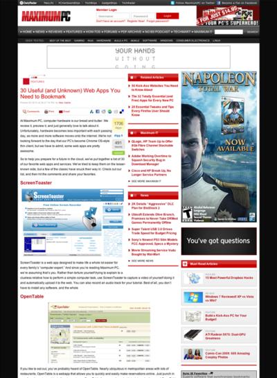 図6 30の便利なWebサービス