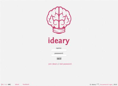 図6 オンラインアイデアメモ帳「ideary」