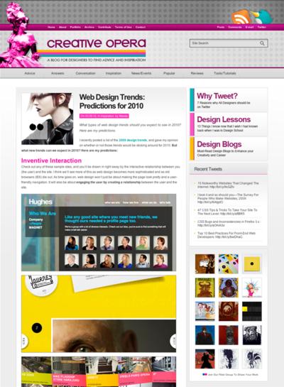 図1 2010年のWebデザイントレンド予想