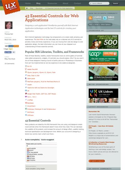図2 Webアプリに不可欠なユーザーインターフェイスパターン