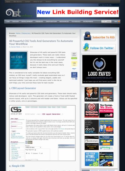 図3 CSS関連の作業を効率化できるツールとジェネレーター