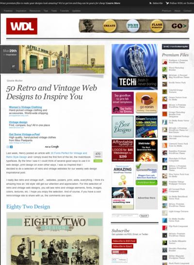 図5 レトロ&ビンテージなWebデザインのギャラリー