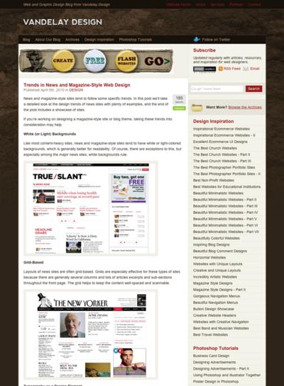 図1 新聞&雑誌風Webデザインのトレンドと実例集
