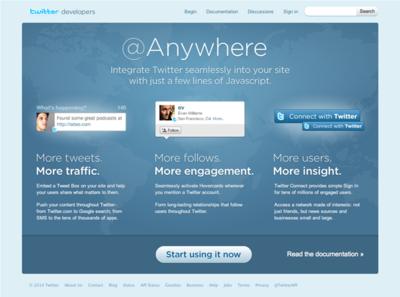図6 Twitterの新API,@Anywhere