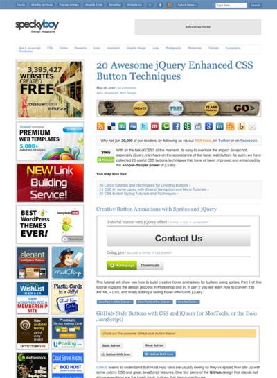 図2 jQueryとCSSによるボタンテクニック集