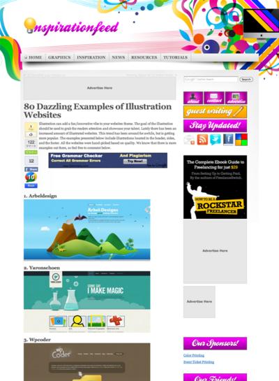 図5 Webサイトで使われているイラストのショーケース