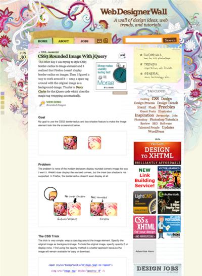 図4 CSS3による画像の角丸処理のテクニック
