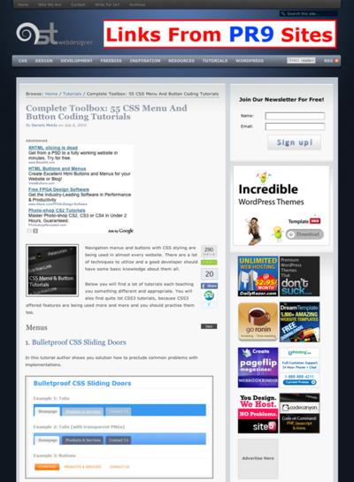 図2 CSSボタンとメニューのコーディングチュートリアル