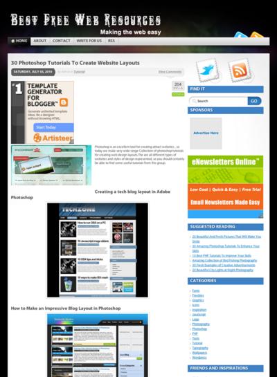 図4 WebレイアウトのPhotoshopチュートリアル集