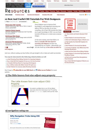 図5 CSSの理解を深めるチュートリアル