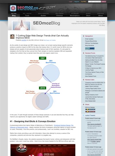 図1 7つの最先端のWebデザインのトレンド