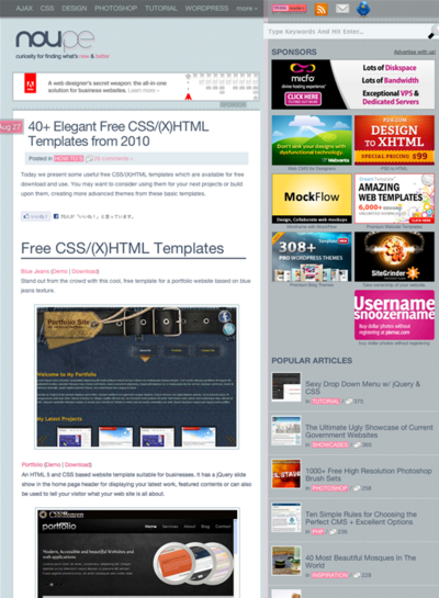 図4 フリーのCSS/(X)HTMLテンプレートいろいろ