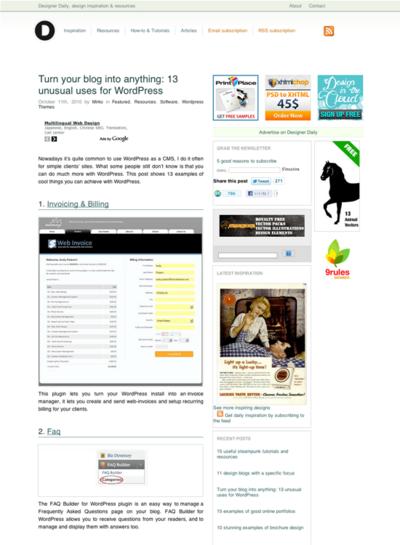 図1 Wordpressのブログ以外での使い方いろいろ