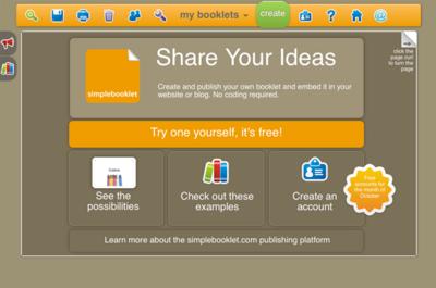 図6 電子小冊子を作るためのWebサービスSimplebooklet