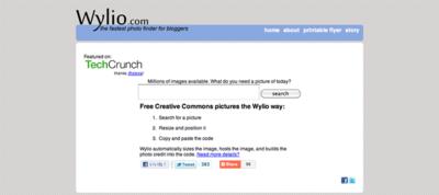 図6 Flickr画像の埋め込みコードを簡単に作成できるサービス