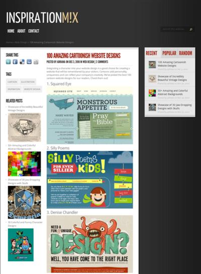 図3 漫画風のイラストを使ったWebデザインいろいろ