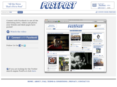 図6 Facebookのニュースフィードを新聞風レイアウトにするサービス