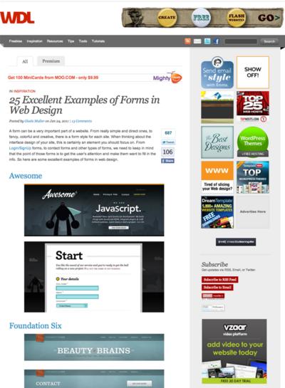 図4 フォームデザインの事例集
