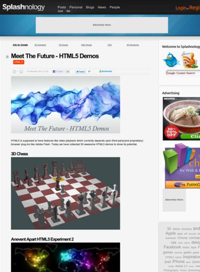 図5 HTML5のデモいろいろ
