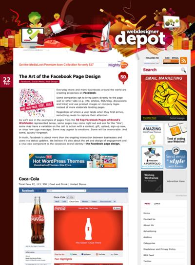 図2 米企業のFacebookページデザインいろいろ