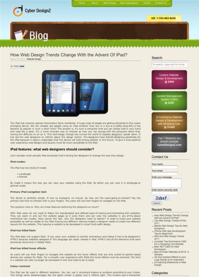 図1 iPadの登場で変わったWebデザインのトレンド