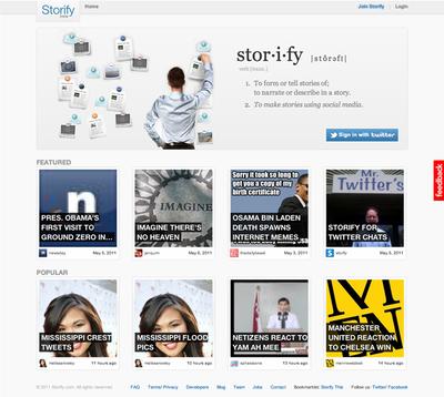 図6 ソーシャルメディアを引用してまとめページが作れるStorify