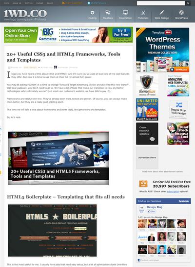 図1 CSS3&HTML5のフレームワーク,ツール,テンプレート