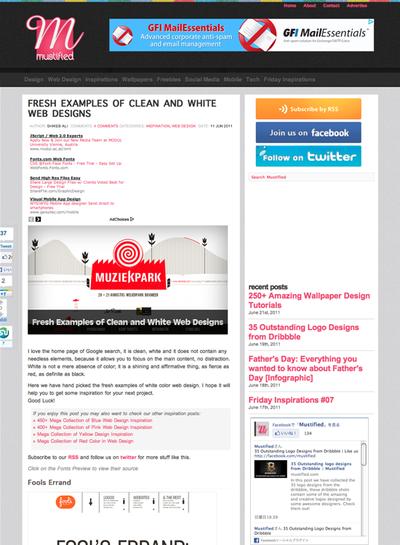 図5 白ベースのWebデザインのギャラリーー