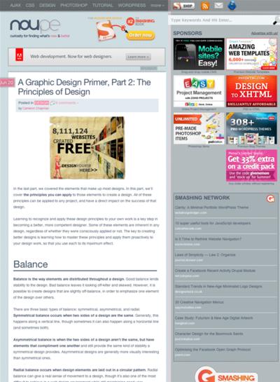 図1 Webデザインのサンプルとともにデザインの原則をレクチャー
