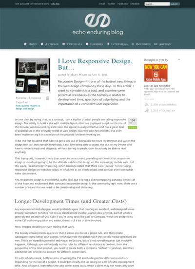 図1 レスポンシブWebデザインが抱える問題点