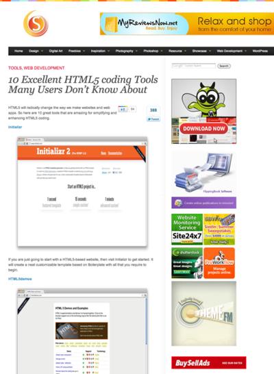 図6 HTML5でサイト制作するときに役立つツールいろいろ