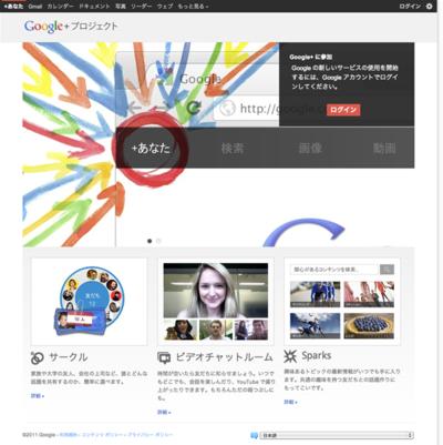 図6 GoogleによるソーシャルサービスGoogle+