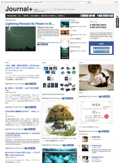 図6 Google+内の人気記事をまとめたソーシャルニュースサイト