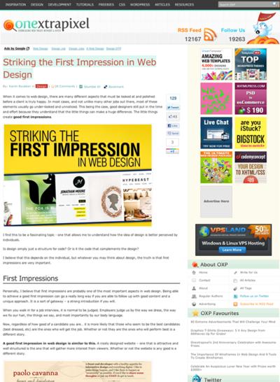図1 第一印象で目を引くWebデザインについて