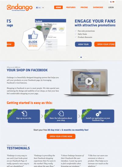 図6 Facebook上でオンラインショップを簡単に運営できるサービス