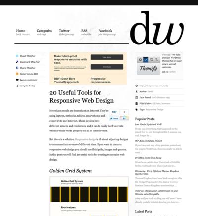 図2 レスポンシブWebデザインのための便利なツール各種