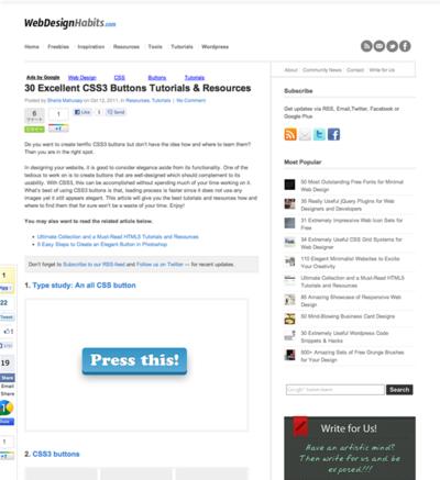 図3 CSS3ボタンのチュートリアルやリソース