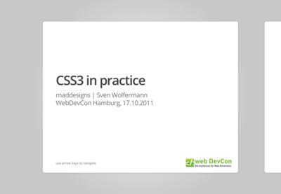 図1 CSS3をレクチャーしてくれるスライド