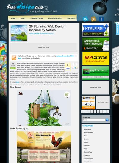 図5 自然物にインスパイアされたWebデザインのギャラリー