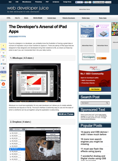 図4 Web制作者に役立つiPadアプリ