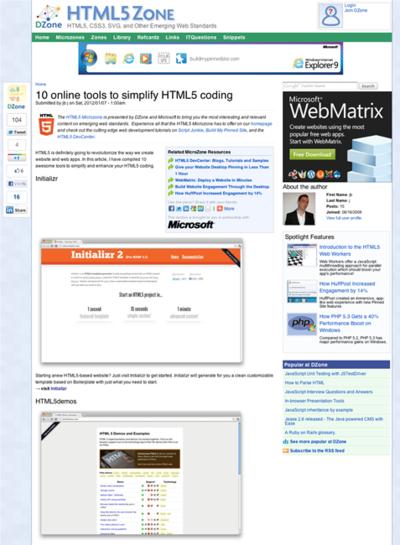 図2 HTML5コーディングを手助けするオンラインツール10選